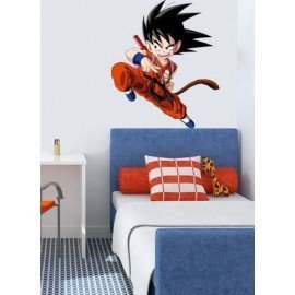 VINILO DECORATIVO GOKU LUCHANDO