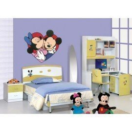VINILO PARED MICKEY MINNIE CORAZÓN
