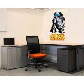 VINILO DECORATIVO R2 D2 STAR WARS
