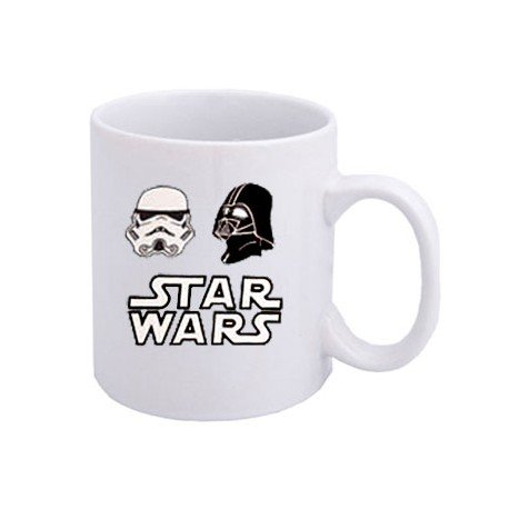 TAZA STAR WARS CON MASCARAS