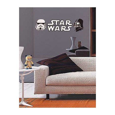 VINILO DECORATIVO STAR WARS CON MASCARAS