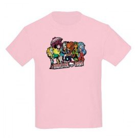 CAMISETA NIÑAS GRUPO MONSTER HIGH
