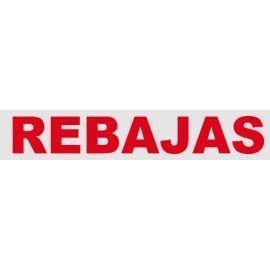 """VINILO CRISTAL """"REBAJAS"""""""