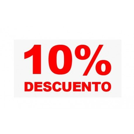 "VINILO CRISTAL ""10%"""