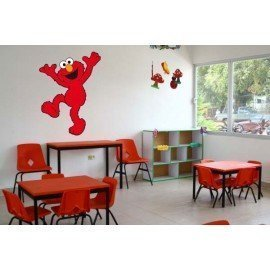 VINILO DECORATIVO PARED ELMO BARRIO SÉSAMO