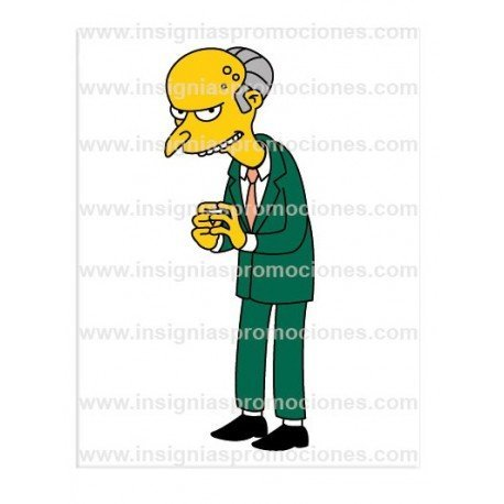 ADHESIVO MONTGOMERY BURNS