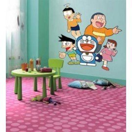 VINILO DECORATIVO PARED FAMILIA DORAEMON
