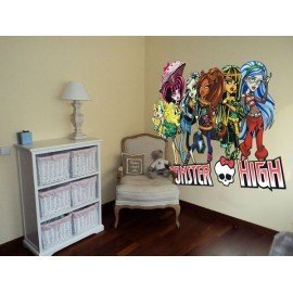VINILO GRUPO MONSTER HIGH