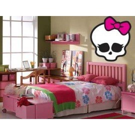 VINILO DECORATIVO LOGO CALAVERA MONSTER HIGH