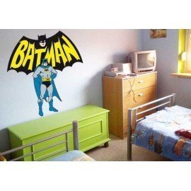 VINILO DECORATIVO PARED BATMAN CON LOGO