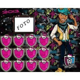 CALENDARIO 2013 MONSTER HIGH CLAWD