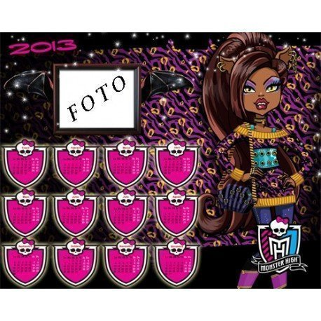 CALENDARIO 2013 MONSTER HIGH CALWD