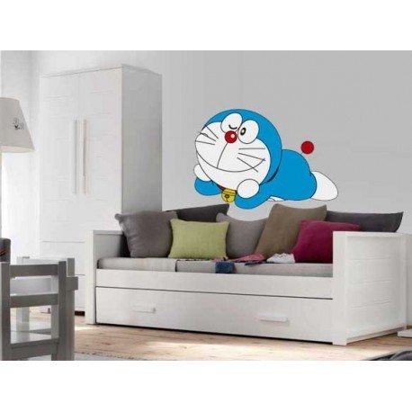 VINILO DECORATIVO PARED DORAEMON TUMBADO