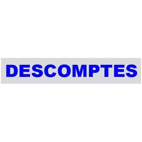 """VINILO CRISTAL """"DESCOMPTES"""""""