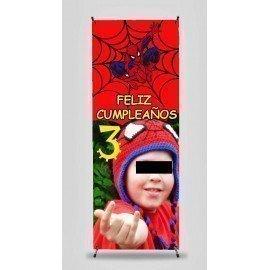 X BANNER CUMPLEAÑOS SPIDERMAN
