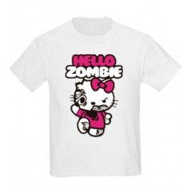 CAMISETA NIÑAS HELLO KITTY ZOMBIE