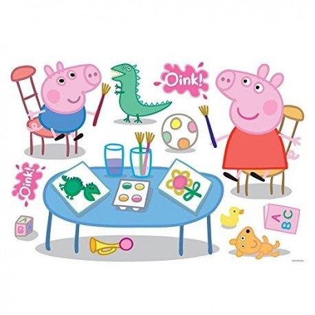 VINILO DECORATIVO FAMILIA PEPPA PIG OINK