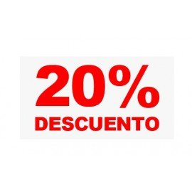 "VINILO CRISTAL ""20%"""