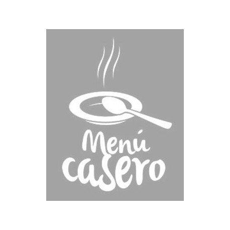 VINILO DE CRISTAL MENÚ CASERO