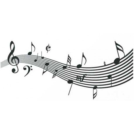 VINILO PARED NOTAS MUSICALES