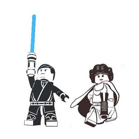 VINILO LEGO STAR WARS CON LEILA