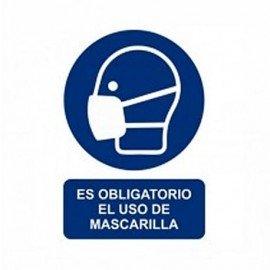 ADHESIVO USO OBLIGATORIO DE MASCARILLA PERFIL