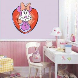 VINILO DECORATIVO PARED MINNIE MOUSE