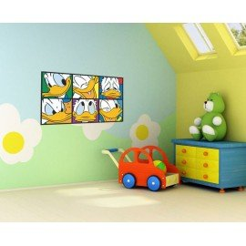 VINILO DECORATIVO PARED CUADRO PATO DONALD