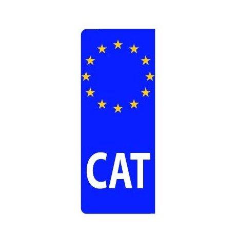 ADHESIVO MATRÍCULA CAT