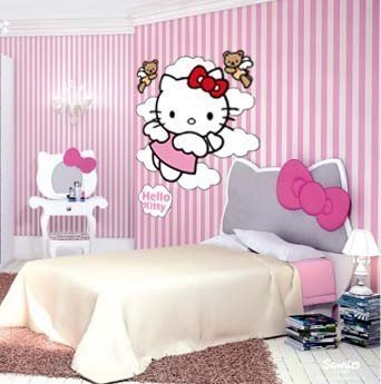 Vinilos Hello Kitty Pared.Vinilo Decorativo Hello Kitty Angel Insigpol Vinilos Camisetas Com