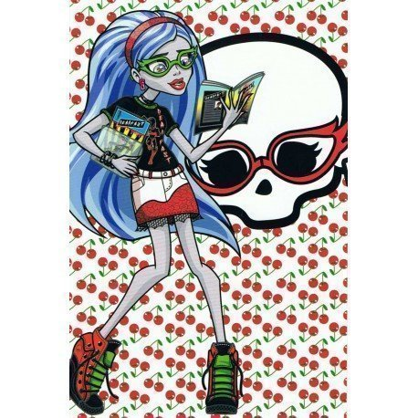 PÓSTER MONSTER HIGH FRANKIE STEIN CON PERRO