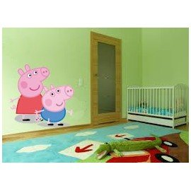 VINILO DECORATIVO PEPPA Y GEORGE PIG