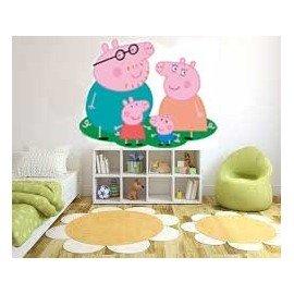 VINILO DECORATIVO FAMILIA PEPPA PIG