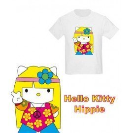 CAMISETA NIÑOS HELLO KITTY HIPPIE