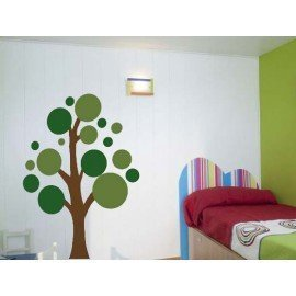 VINILO DECORATIVO PARED ARBOL CÍRCULOS